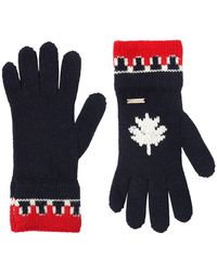 DSquared² - Wool & Alpaca Blend Knit Gloves - Lyst