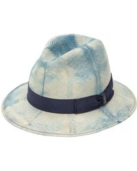 Borsalino - Quito Dyed Medium Brim Straw Panama Hat - Lyst 6e2a7fb5037a