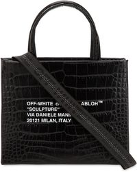 Off-White c/o Virgil Abloh - Mini Croc Embossed Leather Box Bag - Lyst