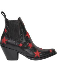 Mexicana - 60mm Stars Leather Ankle Boots - Lyst