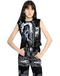 Claire Barrow - Sleeveless Leather Moto Vest - Lyst