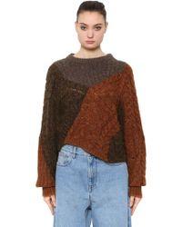 Étoile Isabel Marant - Patchwork Wool Knit Sweater - Lyst