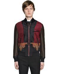 Alexander McQueen - Patchwork Wool & Silk Bomber Jacket - Lyst