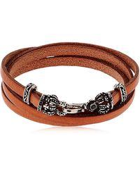 Alcozer & J - Crowns Leather Wrap Bracelet - Lyst