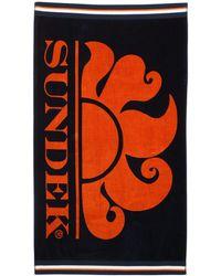 Sundek - Logo Printed Terrycloth Beach Towel - Lyst