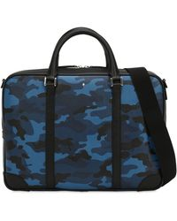Montblanc - Small Camouflage Leather Briefcase Case - Lyst