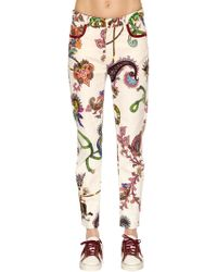 Etro - Slim Fit Printed Cotton Denim Jeans - Lyst