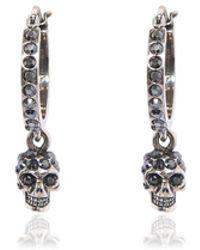 Alexander McQueen - Mini Skull Hoop Earrings - Lyst