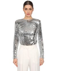 Racil - Long Sleeve Sequined Top - Lyst