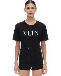 Valentino Vltn Cotton T-shirt - Black