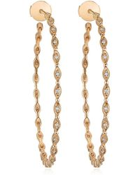 Stone Paris - Yasmine Large Hoop Earrings - Lyst