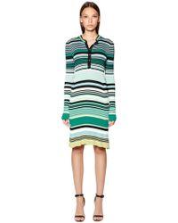 Diesel Black Gold | Striped Viscose Rib Knit Dress | Lyst