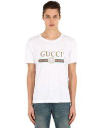 Gucci - T-shirt oversize délavé con logo - Lyst