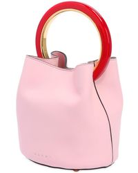 Marni - Small Pannier Leather Bucket Bag - Lyst