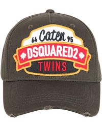 DSquared² - Caten Twins Patch Cotton Baseball Hat - Lyst