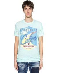 DSquared² - T-shirt Aus Baumwolljersey Mit Caten-druck - Lyst