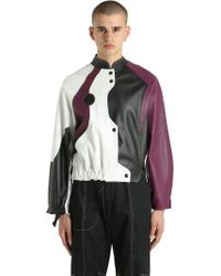 Vejas - Patchwork Leather Moto Jacket - Lyst