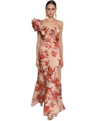Johanna Ortiz - Floral Print One Shoulder Duchesse Dress - Lyst