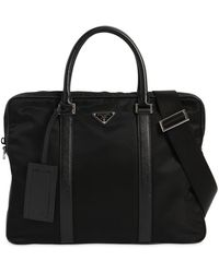 Prada - Nylon Canvas Briefcase - Lyst