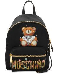 Moschino - Teddy Printed Backpack - Lyst