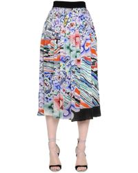 Mary Katrantzou | Rainbow Cloud Printed Georgette Skirt | Lyst