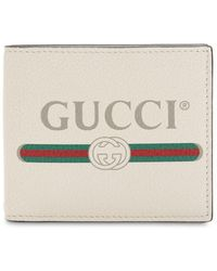 ab26ec72ccd Lyst - Gucci Print Leather Bi-fold Wallet in Red for Men - Save 30%