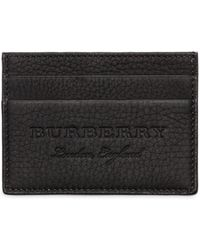 Burberry - Logo Tumbled Leather Card Holder - Lyst