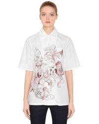 Prada - Liberty Printed Cotton Poplin Shirt - Lyst