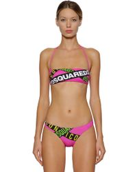 DSquared² - Top Bikini In Lycra - Lyst