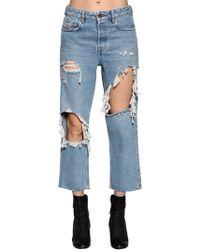 DIESEL - Destroyed Washed Denim Jeans - Lyst