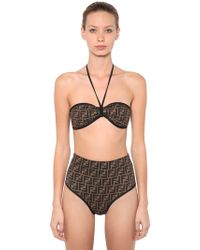 Fendi - Reversible Logo Printed Bikini - Lyst