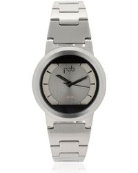 FOB PARIS - Limited Edition Red Solar Silver Watch - Lyst