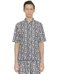 Christophe Lemaire - Printed Cotton Short Sleeve Shirt - Lyst