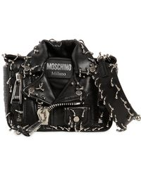 Moschino - Piercing Biker Leather Shoulder Bag - Lyst