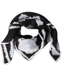 KENZO - Tiger Print Cotton & Silk Square Scarf - Lyst