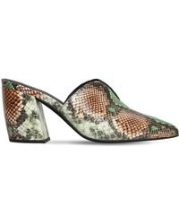 Jeffrey Campbell - 80mm Snake Print Leather Mules - Lyst