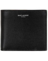 Saint Laurent - Eastwest Grain Leather Wallet - Lyst