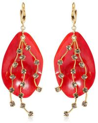 Marni - Petals Horn & Crystals Drop Earrings - Lyst