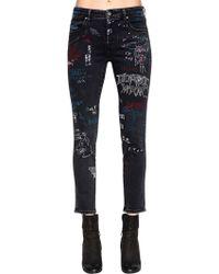 DIESEL - Slim Skinny Graffiti Cotton Denim Jeans - Lyst