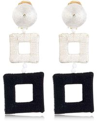 Oscar de la Renta - Wrapped Double Square Earrings - Lyst