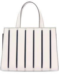 Max Mara - Medium Striped Leather Top Handle Bag - Lyst