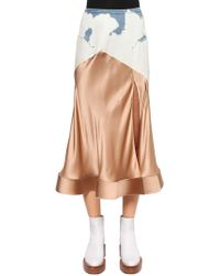 Esteban Cortazar - Contrast Flared Skirt - Lyst