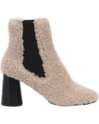 Suecomma Bonnie - 80mm Furry Faux Shearling Ankle Boots - Lyst