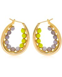 Anton Heunis - Color Block Oval Hoop Earrings - Lyst