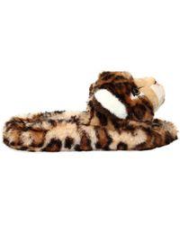 Dolce & Gabbana - 20mm Leopard Plush Slide Sandals - Lyst