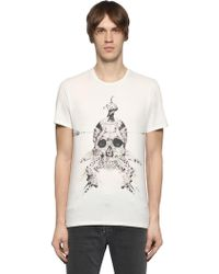 Just Cavalli - Printed Cotton Jersey T-shirt - Lyst
