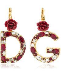 Dolce & Gabbana - D&g Crystal Earrings - Lyst