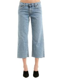 Simon Miller - Cropped Flared Cotton Denim Jeans - Lyst