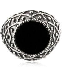 Emanuele Bicocchi - Stone Onyx & Silver Ring - Lyst