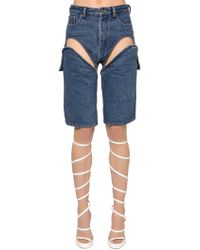 Y. Project - Shorts In Denim - Lyst